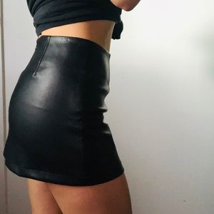 5/48 Skirts - 5/48 Black Faux Leather Skirt